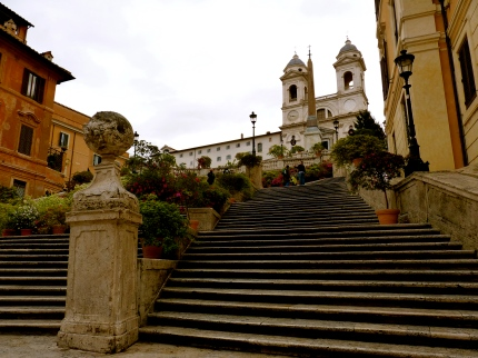 church rome spanish steps