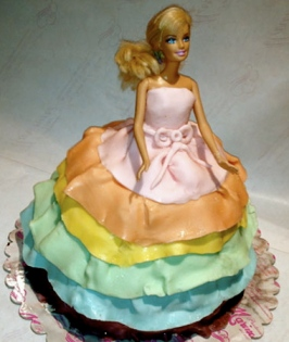 Rome italian baker birthday cake little girl