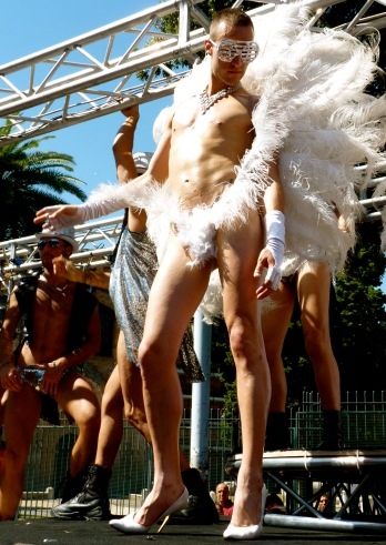rome gay march parade gay angel