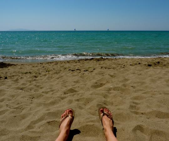 italian seaside maremma italy havaianas