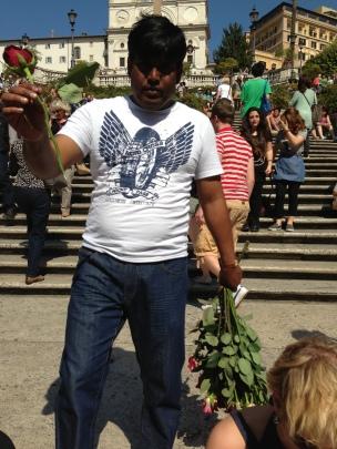 harrassment rome italy vendors indian man