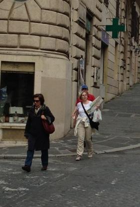 Tourists rome map Santa Maria Maggiore